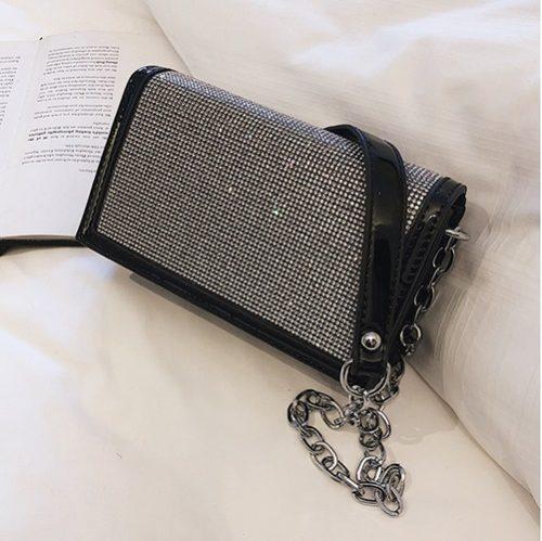 JT1279-black Tas Clutch Selempang Pesta Elegan