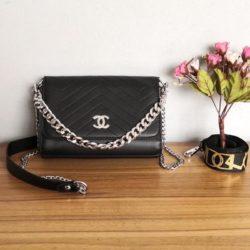 JT12852-black Tas Selempang Wanita Cantik Import Terbaru 2 Talpan