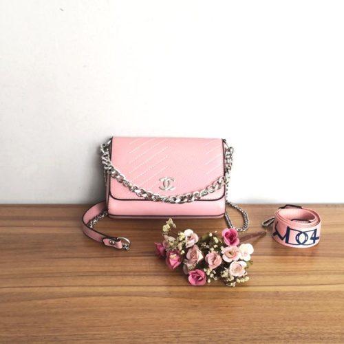 JT12852-pink Tas Selempang Wanita Cantik Import Terbaru 2 Talpan
