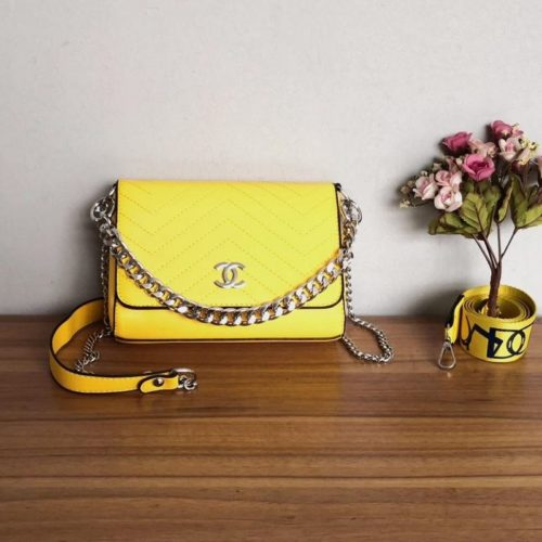 JT12852-yellow Tas Selempang Wanita Cantik Import Terbaru 2 Talpan