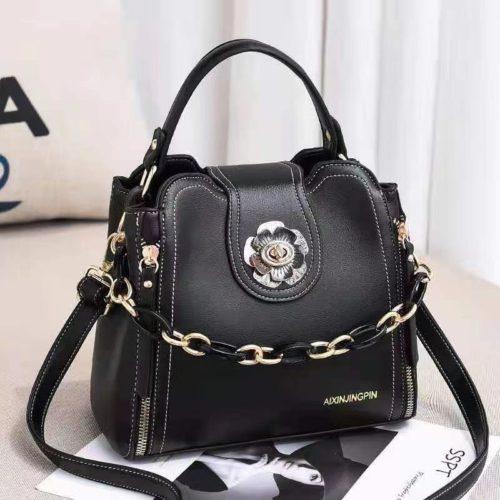JT12856-black Tas Selempang Fashion Cantik Wanita Elegan Terbaru