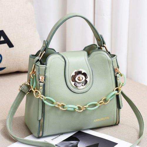 JT12856-green Tas Selempang Fashion Cantik Wanita Elegan Terbaru