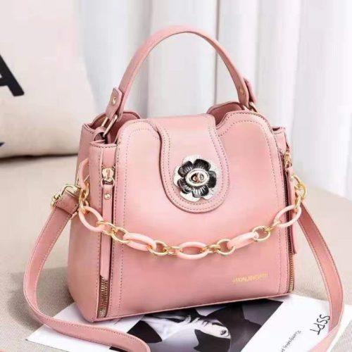 JT12856-pink Tas Selempang Fashion Cantik Wanita Elegan Terbaru