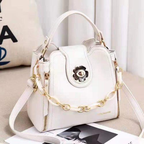 JT12856-white Tas Selempang Fashion Cantik Wanita Elegan Terbaru