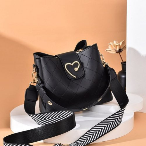 JT12902-black Tas Selempang Fashion Elegan Wanita Cantik Terbaru