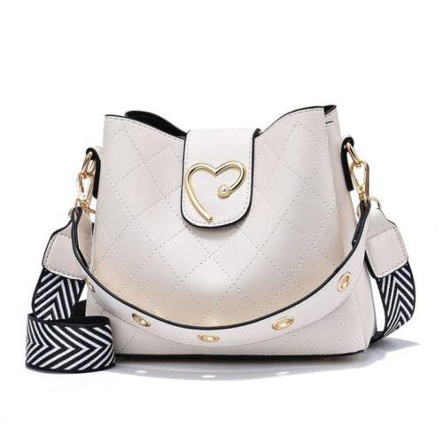 JT12902-white Tas Selempang Fashion Elegan Wanita Cantik Terbaru