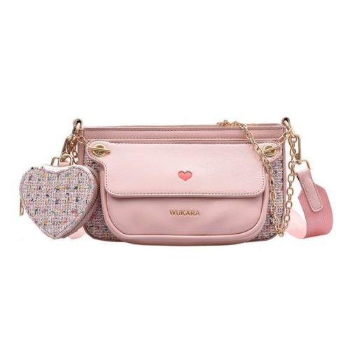 JT12984-pink Tas Selempang Wanita Imut Elegan 3in1 Import