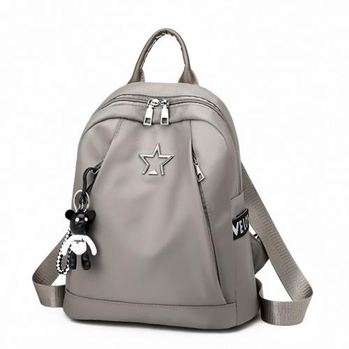 JT134412-khaki Tas Backpack Terbaru Wanita Elegan
