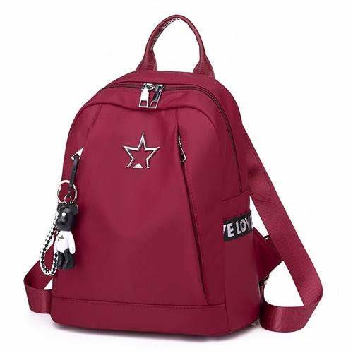 JT134412-red Tas Backpack Terbaru Wanita Elegan