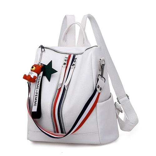 JT13468-white Tas Ransel Fashion Modis Terbaru Wanita
