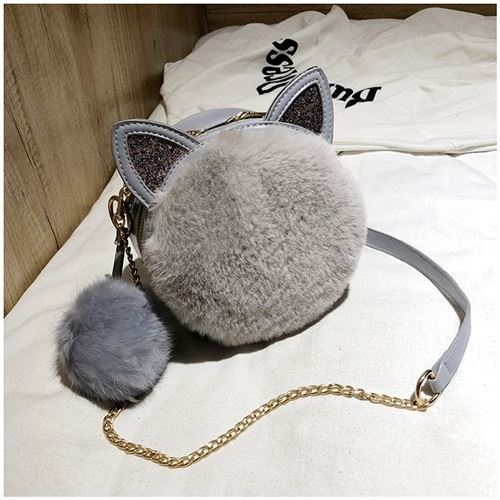 JT1360 IDR.159.000 MATERIAL PU+PLUSH SIZE L18XH18XW7CM WEIGHT 450GR COLOR GRAY