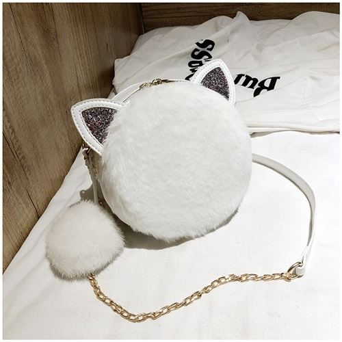 JT1360 IDR.159.000 MATERIAL PU+PLUSH SIZE L18XH18XW7CM WEIGHT 450GR COLOR WHITE