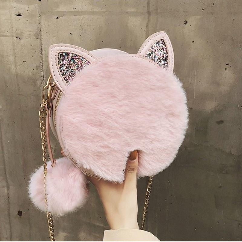 JT1360 IDR.170.000 MATERIAL PU+PLUSH SIZE L18XH18XW7CM WEIGHT 450GR COLOR PINK