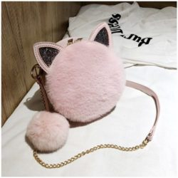 JT1360 IDR.172.000 MATERIAL PU+PLUSH SIZE L18XH18XW7CM WEIGHT 450GR COLOR PINK