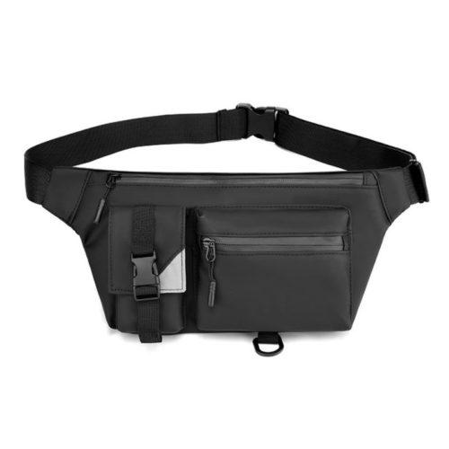 JT13640-black Tas Waist Bag Sling Pria Modis Import Terbaru