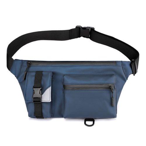 JT13640-blue Tas Waist Bag Sling Pria Modis Import Terbaru