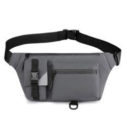 JT13640-gray Tas Waist Bag Sling Pria Modis Import Terbaru
