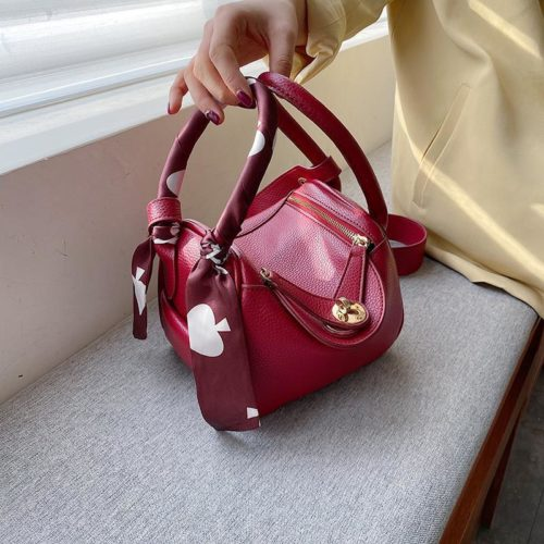 JT13951-red Tas Handbag Selempang Wanita Cantik Import