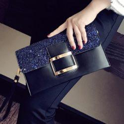 JT14212-black Dompet Clutch Wanita Elegan Import Terbaru