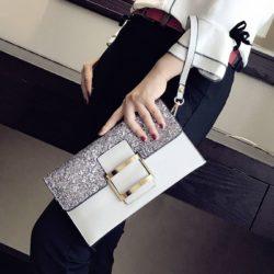 JT14212-lightgray Dompet Clutch Wanita Elegan Import Terbaru