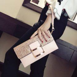 JT14212-pink Dompet Clutch Wanita Elegan Import Terbaru