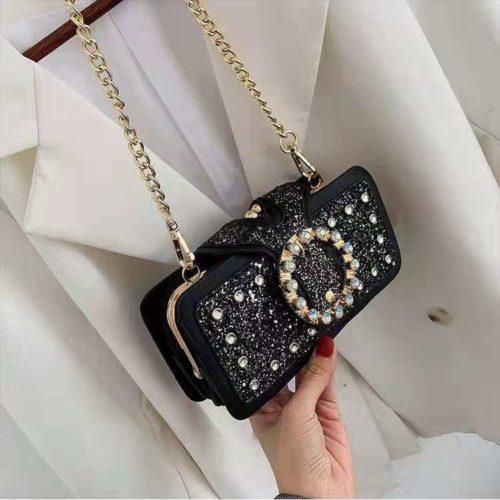 JT14220-black Tas Pesta Selempang Wanita Elegan Import Terbaru