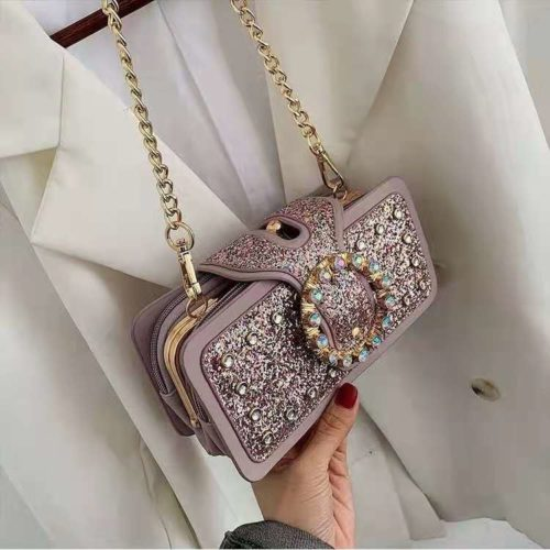 JT14220-purple Tas Pesta Selempang Wanita Elegan Import Terbaru
