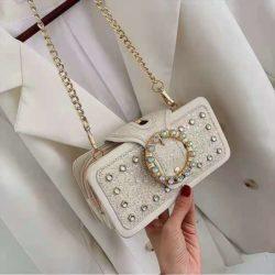 JT14220-white Tas Pesta Selempang Wanita Elegan Import Terbaru