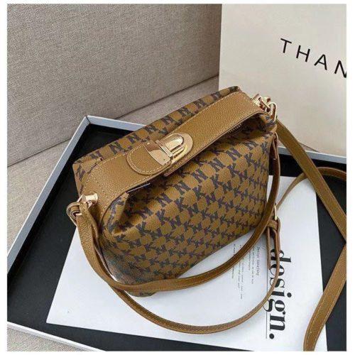 JT14560-khaki Tas Selempang Modis Wanita Cantik Terbaru Import