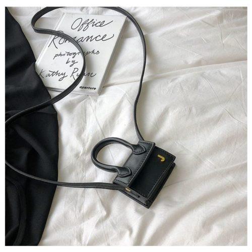 JT14601-black Tas Selempang Mini Imut Lucu Kekinian