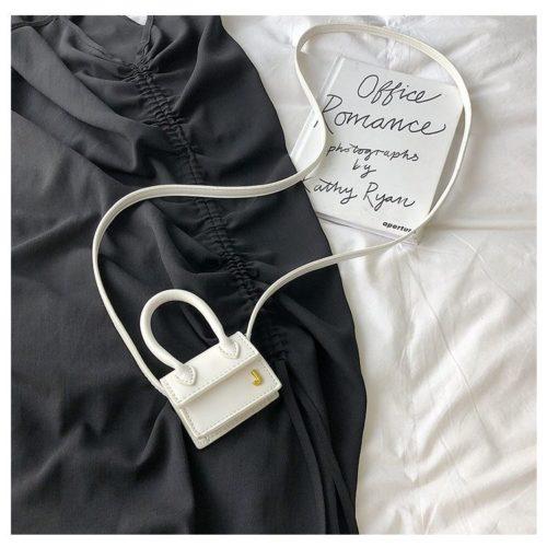 JT14601-white Tas Selempang Mini Imut Lucu Kekinian