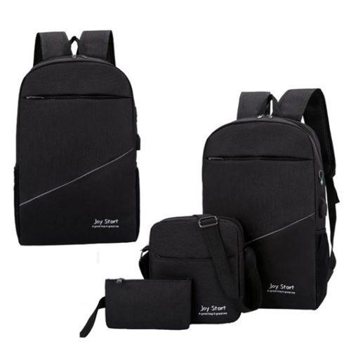 JT15046-black Tas Laptop Ransel Anti Maling Unisex 3in1