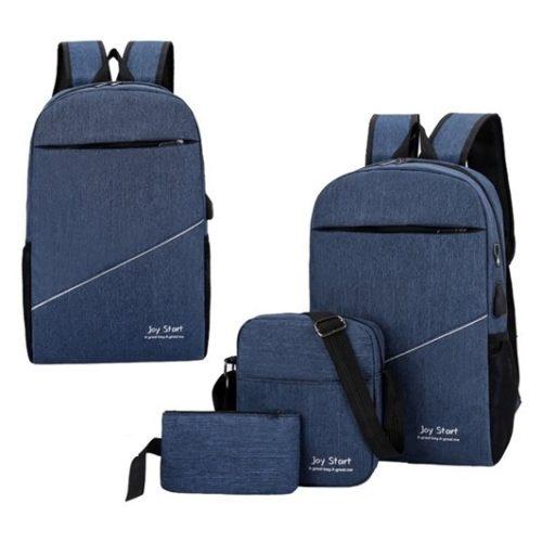JT15046-blue Tas Laptop Ransel Anti Maling Unisex 3in1