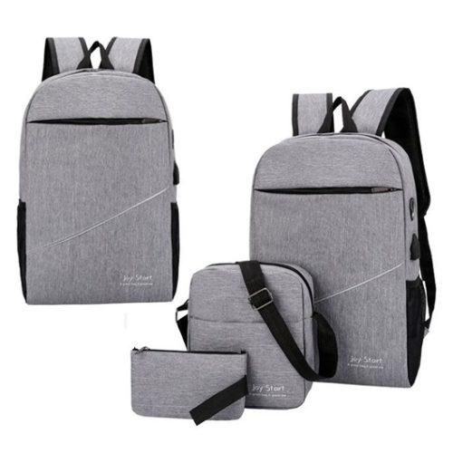JT15046-gray Tas Laptop Ransel Anti Maling Unisex 3in1
