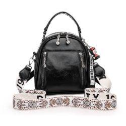 JT1507-black Tas Ransel Stylish Tali Selempang Cantik Import