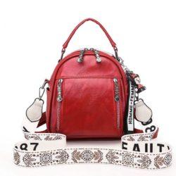 JT1507-red Tas Ransel Stylish Tali Selempang Cantik Import