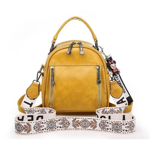JT1507-yellow Tas Ransel Stylish Tali Selempang Cantik Import