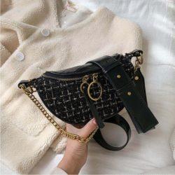 JT15846-black Tas Waist Bag Fashion Wanita Elegan Import