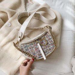 JT15846-rainbow Tas Waist Bag Fashion Wanita Elegan Import