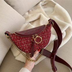 JT15846-red Tas Waist Bag Fashion Wanita Elegan Import