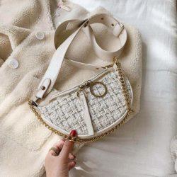 JT15846-white Tas Waist Bag Fashion Wanita Elegan Import