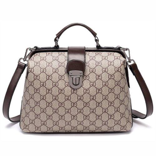 JT15853-gdblack Tas Doctor Bag Fashion Wanita Elegan Import