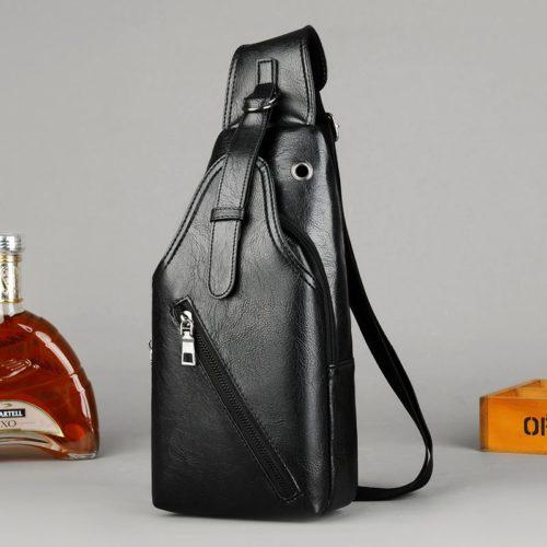 JT16820-black Sling Bag Pria Modis Import Terbaru