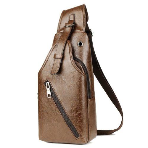 JT16820-brown Sling Bag Pria Modis Import Terbaru