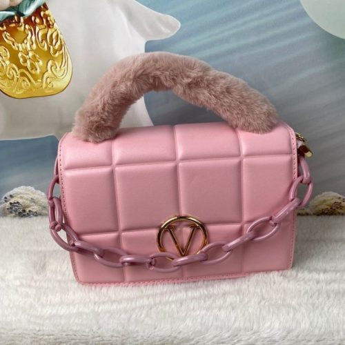 JT1695-pink Tas Handbag Wanita Pesta Elegan Tali Selempang