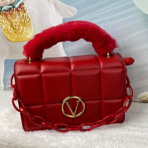 JT1695-red Tas Handbag Wanita Pesta Elegan Tali Selempang