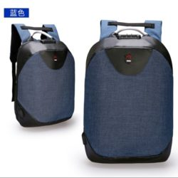 JT1710-blue Tas Ransel Laptop Unisex Anti Maling Import