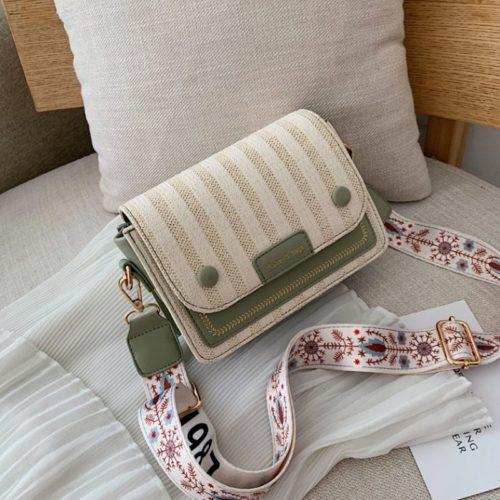 JT17842-green Tas Selempang Honey & Bags Import Wanita Cantik