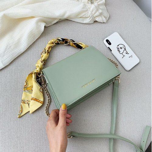 JT17950-green Tas Handbag Selempang Wanita Cantik Terbaru