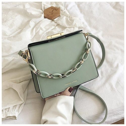 JT18140-green Tas Selempang Fashion Modis Wanita Cantik Import